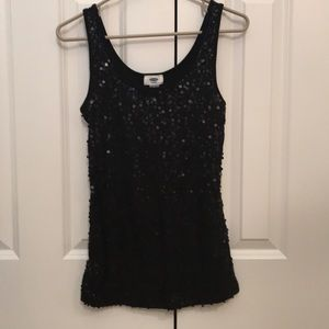 Black sequin top